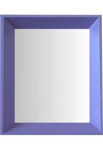 Espelho Moldura Madeira Lisa Fundo 16337 Lilás Art Shop