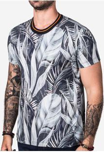 Camiseta Blue Foliage 102817