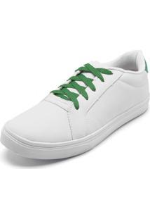 17b480a7c12 ... Tênis Dafiti Shoes Pespontos Branco Verde