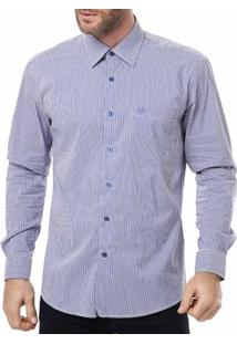 Camisa Manga Longa Masculina Optimist Azul