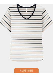 Blusa Plus Size Delicate Branco