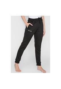 Calça De Moletom Calvin Klein Underwear Jogger Amarração Preta