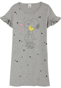 Camisola Cinza Feminina Snoopy®