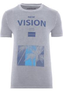 Camiseta Masculina New Vision - Cinza