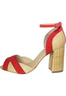 Sandália Pimenta Feminina - Feminino-Coral