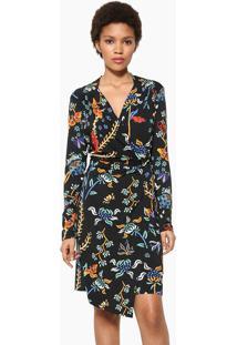 Vestido Curto Desigual Preta - Preto - Feminino - Dafiti