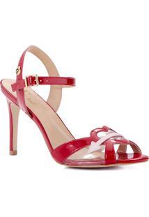 Sandália Vermelha Coração Cs Club Vermelho - Kanui