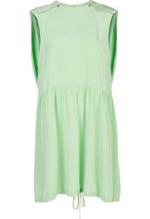 Tibi Vestido Com Cinto - Verde
