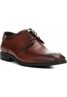 Sapato Social Couro Shoestock Cadarço Masculino - Masculino-Marrom
