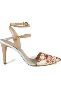 Scarpin Chanel Cecconello Floral - Feminino
