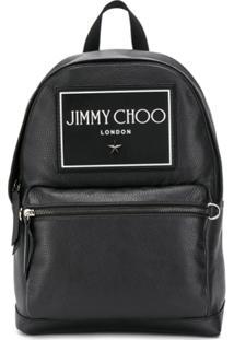 Jimmy Choo Mochila Com Patch De Logo - Preto