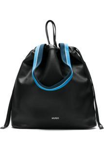 Hugo Bolsa Saco Com Logo - Preto