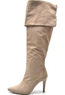 Bota Flor Da Pele Over Knee Caramelo