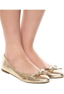 Sapatilha Dafiti Shoes Laço Dourada