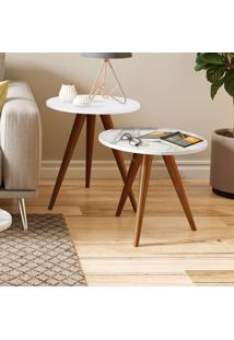 Mesa De Canto 500 Retrô – Be Mobiliário - Branco
