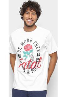 Camiseta Fatal Be More Free Masculina - Masculino-Branco