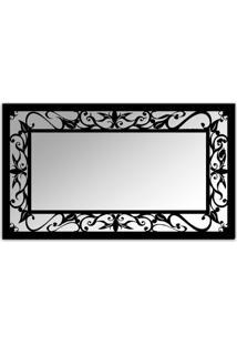 Espelho De Parede 12876P Preto 70X110 Art Shop