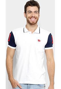 Camisa Polo Rg 518 Piquet Bordado Masculina - Masculino-Branco