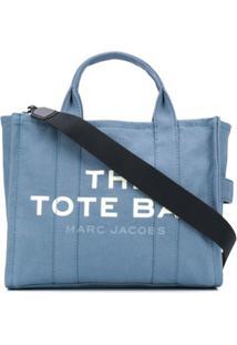Marc Jacobs Bolsa Tote Com Estampa De Logo - Azul