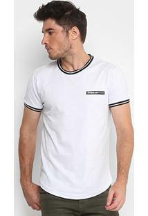 Camiseta Polo Rg 518 Retilínea Masculina - Masculino-Branco