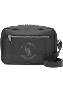 Burberry London Check Messenger Bag - Cinza