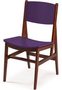 Cadeira Dumon Cor Cacau Com Roxo - 30788 Sun House