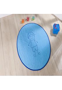 Tapete Formato Feltro Antiderrapante ÍTalo Azul Turquesa - Multicolorido - Dafiti