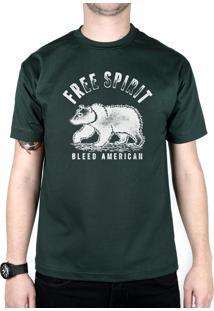 Camiseta Bleed American Free Spirit Musgo