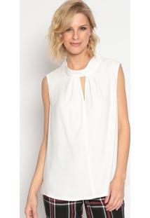 Blusa Com Vazado- Off White- Seduã§Ã£O Dressseduã§Ã£O Dress