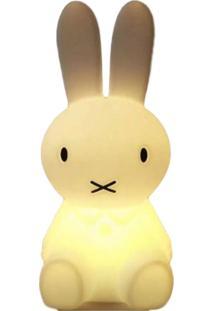Luminária Coelho Miffy Decorfun Quarto Criança Branco