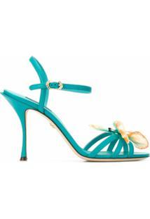 Dolce & Gabbana Sandália Com Aplicação De Borboleta - Azul