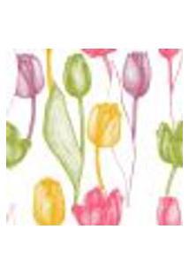 Papel De Parede Autocolante Rolo 0,58 X 3M - Floral Flores Tulipas 290060579