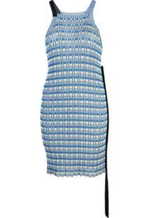 Jil Sander Túnica Listrada Frente Única - Azul