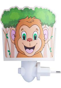 Mini Abajur Macaco - Startec - Branco / Colorido