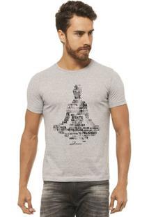 Camiseta Joss - Buda Energia - Masculina - Masculino-Mescla