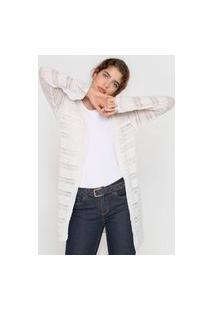 Cardigan Tricot Mercatto Textura Off-White