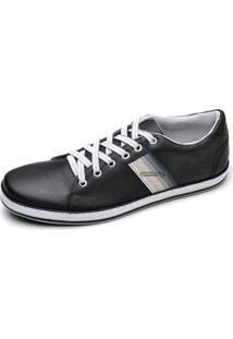 Sapatênis Couro Top Franca Shoes Masculino - Masculino-Preto