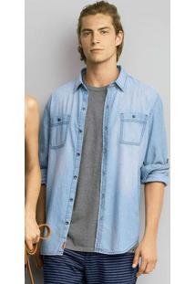 277de82158 Hering. Camisa Jeans Masculina Slim ...