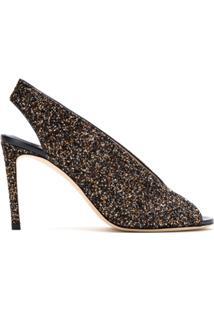 Jimmy Choo Sandália Ankle Boot 'Shar' Em Glitter - Metálico