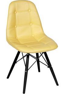 Cadeira Eames Botonãª- Amarela & Preta- 83X44X39Cm