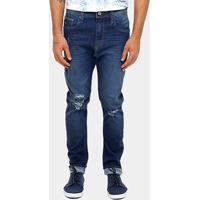 1ec89ab27 Calça Jeans Skinny Colcci Enrico Gancho Grande Rasgos Masculino - Masculino- Jeans