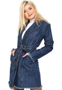 Casaco Jeans Lez A Lez Perfecto Azul