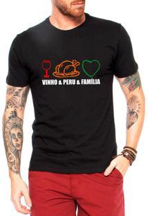 Camiseta Masculina Frases Engraçadas De Natal Presente Vpf Preta