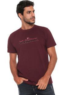 Camiseta Gangster Estampada Vinho