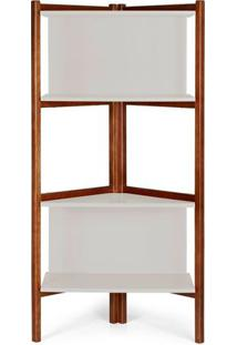 Estante Easy Cor Cacau Com Branco - 28991 Sun House