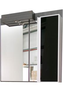 Espelho De Parede Em Mdf Massimo 90X89Cm Ébano Exótico E Preto