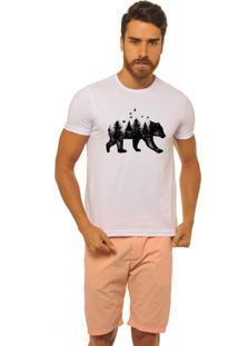 Camiseta Masculina Joss Florest Bear Branco