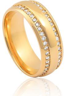 Aliança De Casamento Em Ouro 18K 6,7Mm Anatômica