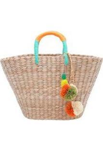 Bolsa Basket Abacaxi Isla - Bege