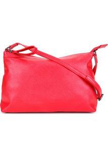 Bolsa Shoestock Safiano Transversal Feminina - Feminino-Vermelho